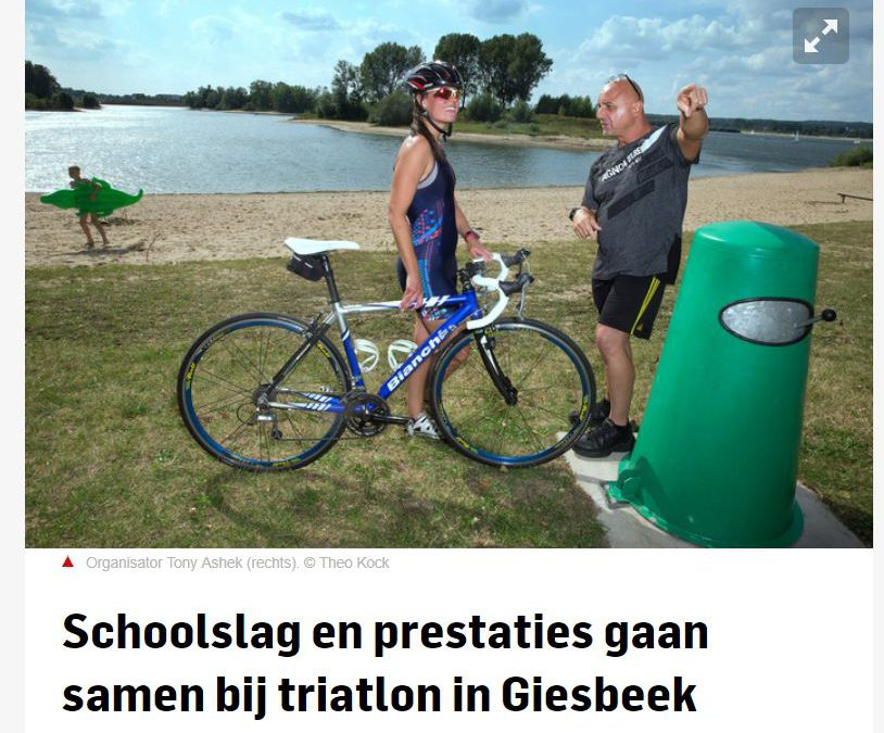 Giesbeek triatlon in de krant